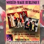 17/11/2017 Dernière soirée Magie Burlesque au Théâtre Le 57